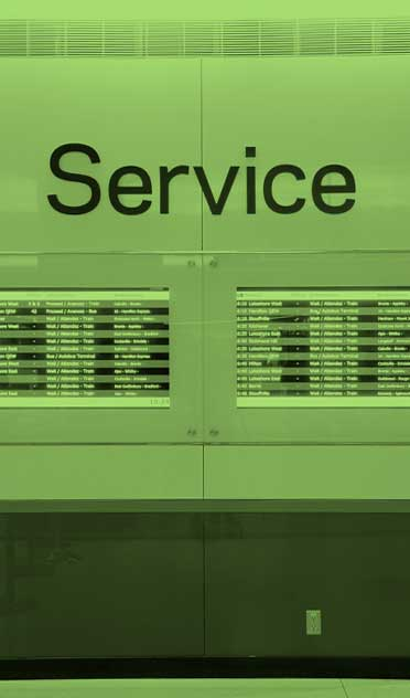 GO Train Service sign