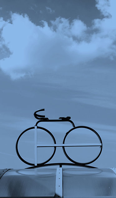 Photo of bicycle on roof rack