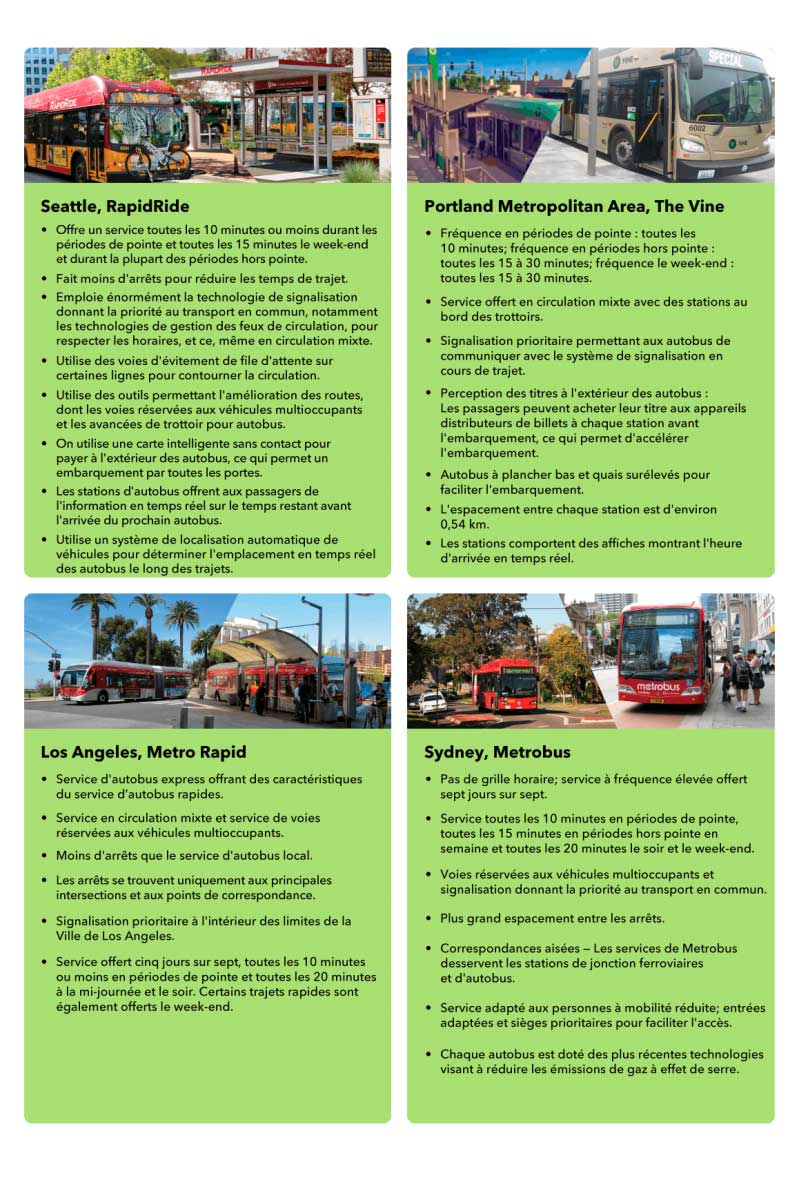 Graphic comparing bus service in Seattle, Portland, Los Angeles, Sydney