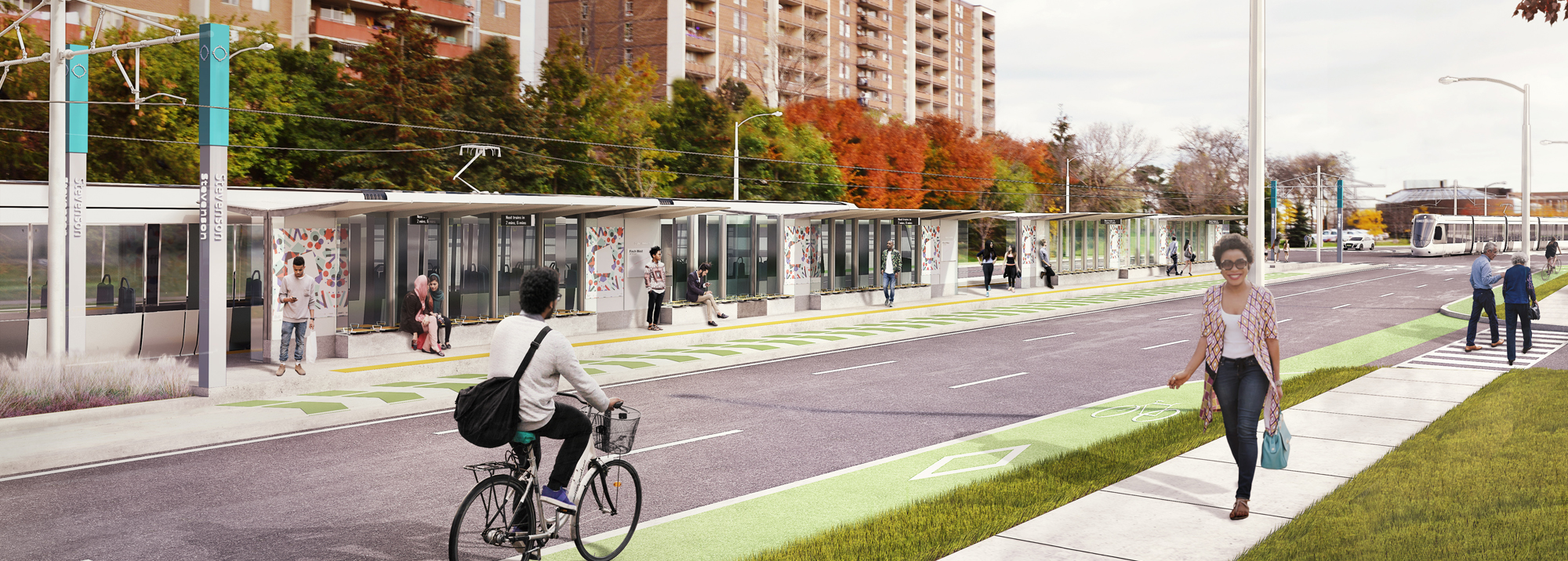 rendering of a station on Finch West LRT line