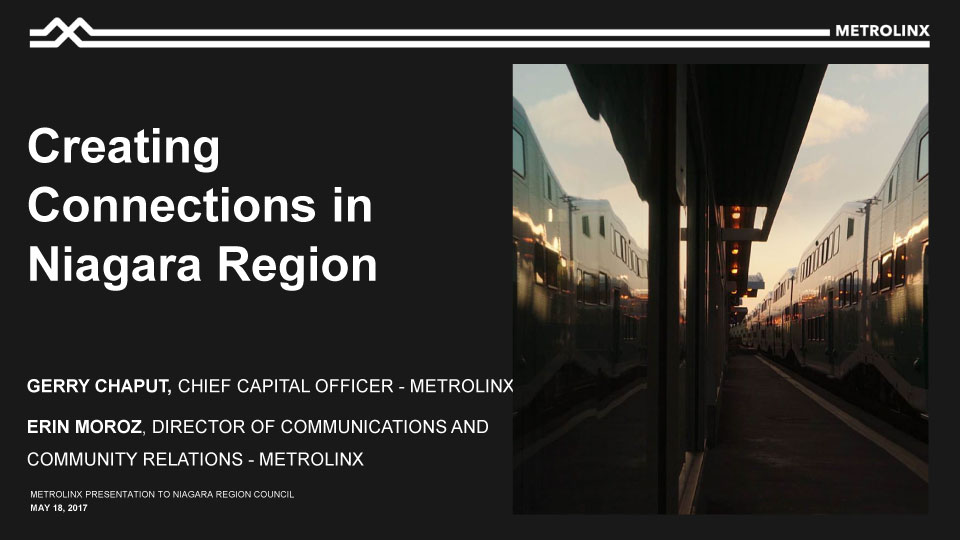 Creating Connections in Niagara Region Presentation