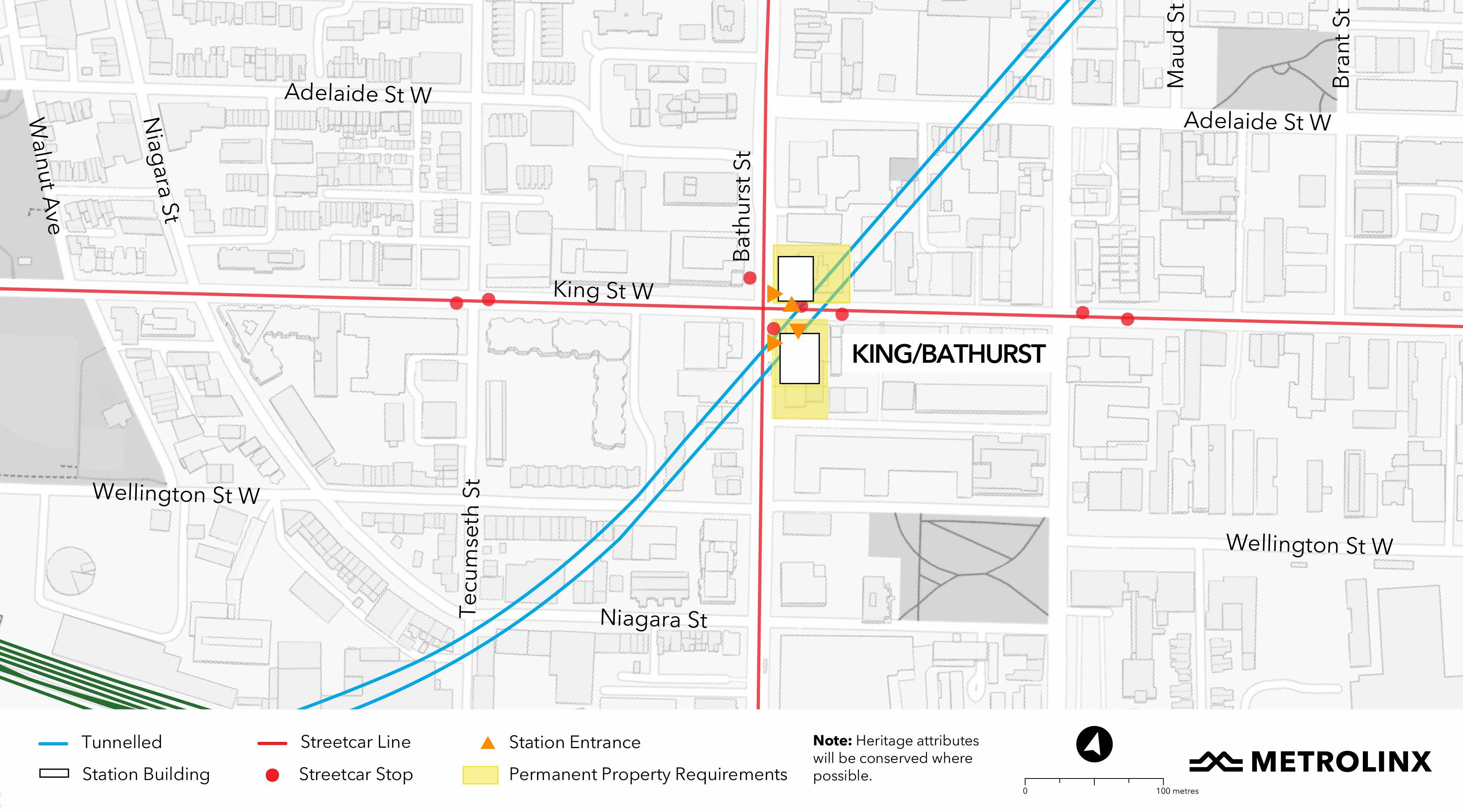 portion of the alignment containing King/Bathurst