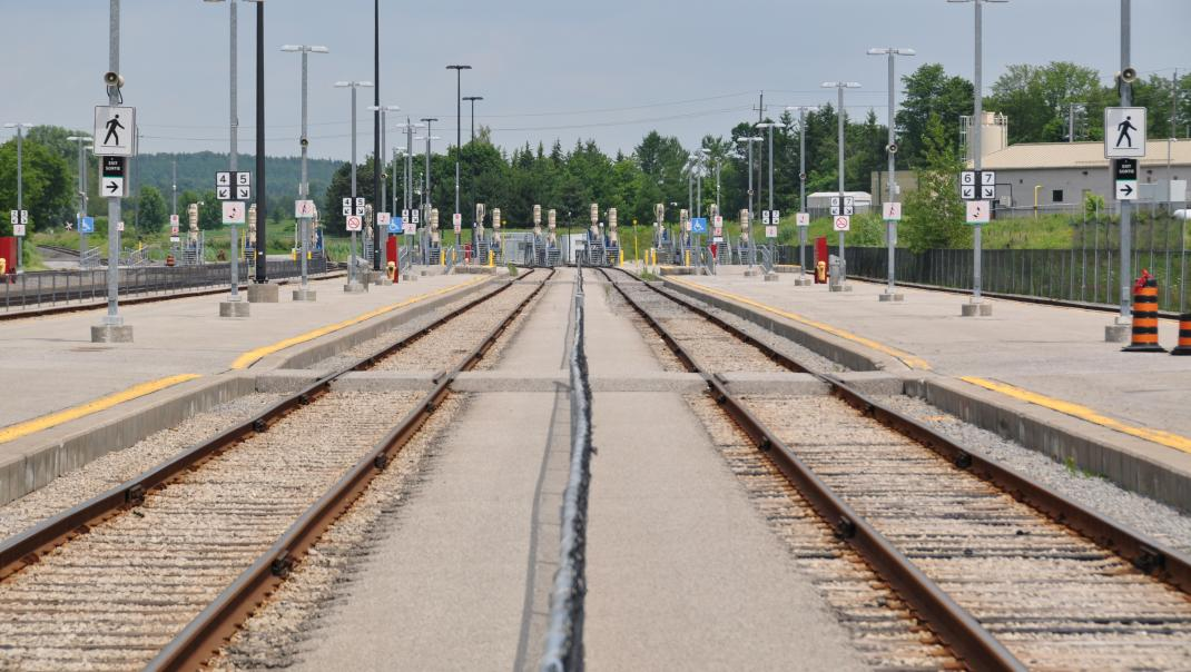 Picture of tracks at Lincolnville Layover