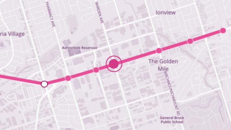 Map of Golden Mile