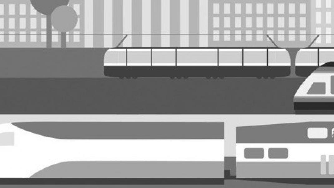 Illustration of public transportation