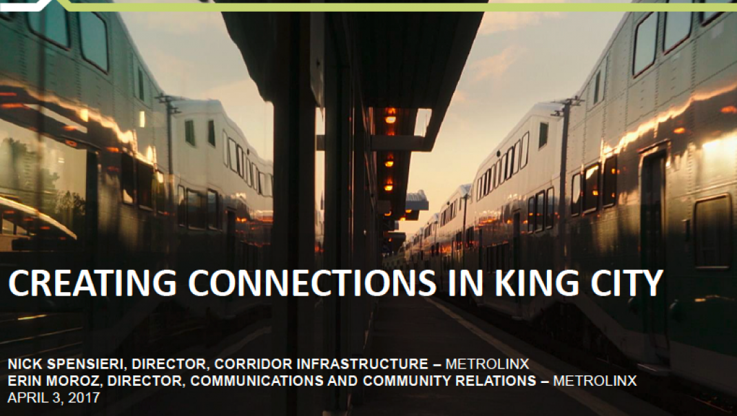 Creating Connections in King City presentation cover