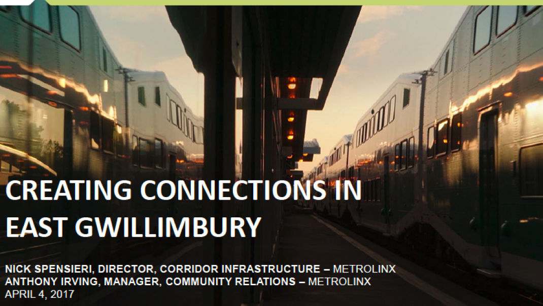 Creating Connections in East Gwillimbury presentation cover