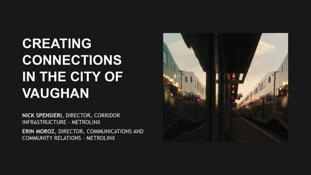 Creating Connections in the City of Vaughan presentation cover