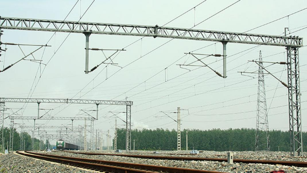 Rail lines ready for electrification