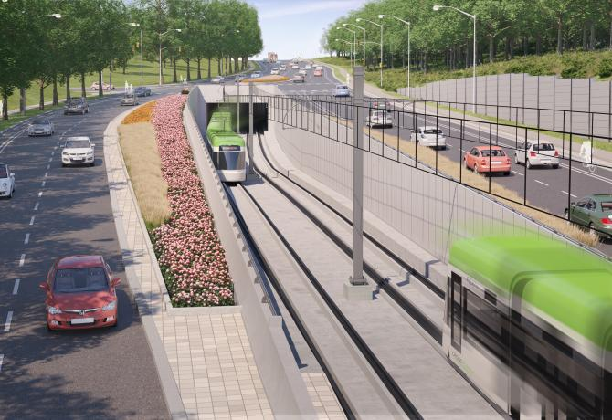 Drawing of the future East Portal