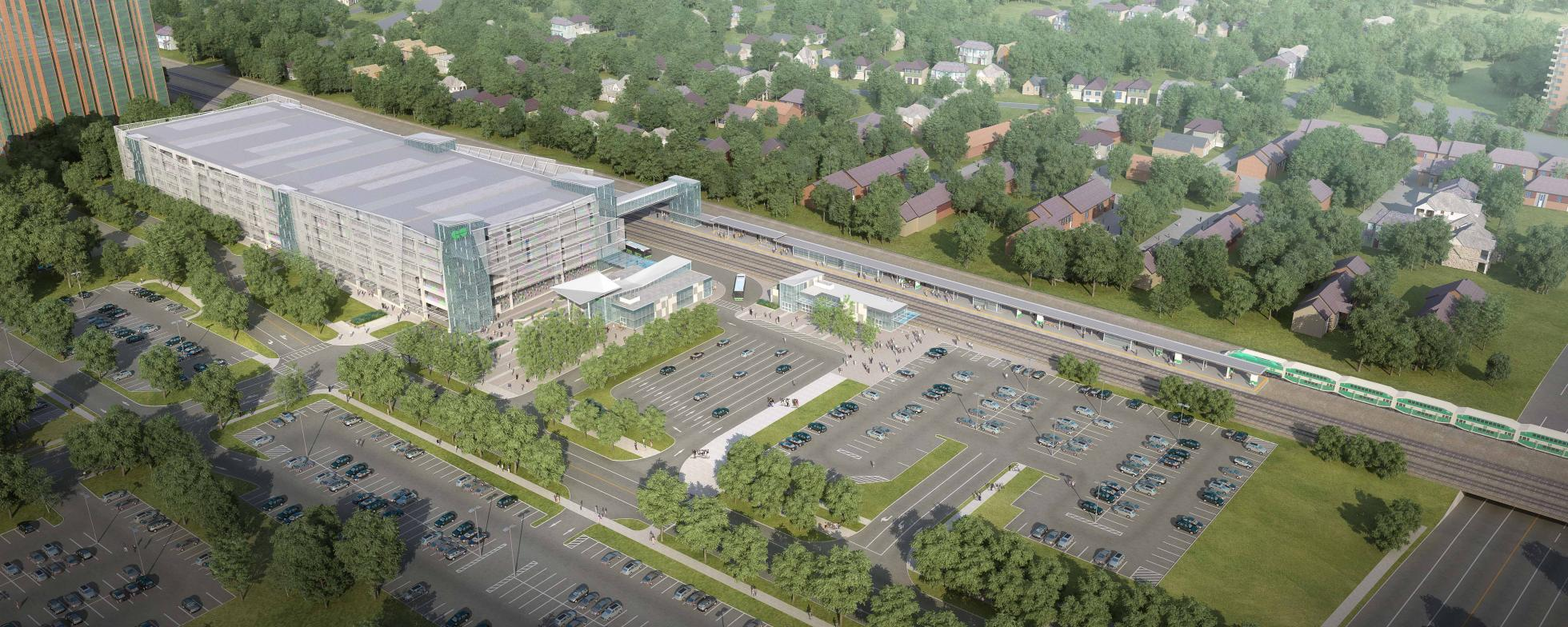 Rendering of Cooksville GO Station