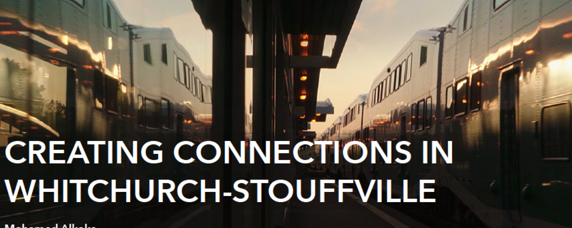Creating Connections in Whitchurch-Stouffville presentation cover